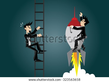 competition in business concept stock vector - stock vector