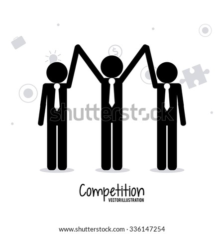 Competitive concept with businessman design, vector illustration 10 eps graphic.