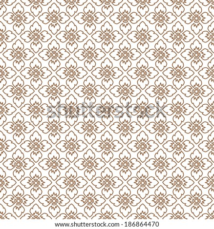 Complementary line Thai art background illustration. - stock vector