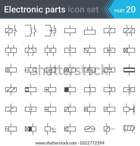 Circuit diagram symbols stock images royalty free images complete vector set of electric and electronic circuit diagram symbols and elements relays and electromagnets ccuart