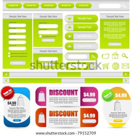 complete web designing element kit