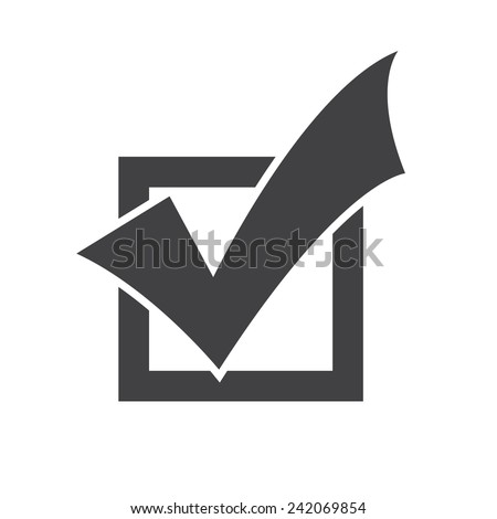 Completed Tasks icon, flat design - stock vector