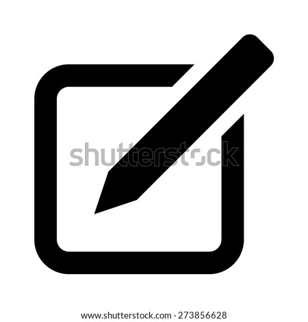 Compose message flat icon for apps and websites - stock vector