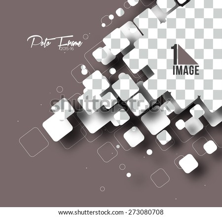 Composite empty frame with places for design, eps10 vector - stock vector