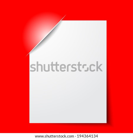 Composite empty frame with places for design on red - stock vector