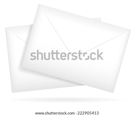 Composition of a pair of envelopes. vector graphics