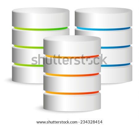 Composition of 3 cylinder - stock vector