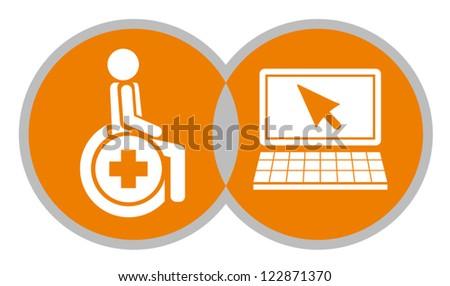 Computer access - stock vector
