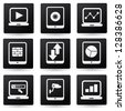 Computer and tablet pc,icon set,vector - stock vector