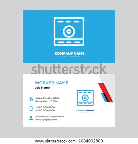 Computer business card design template visiting stock vector computer business card design template visiting for your company modern horizontal identity card vector accmission Gallery