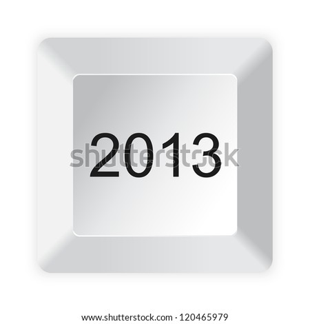 Computer button 2013 isolated on white background