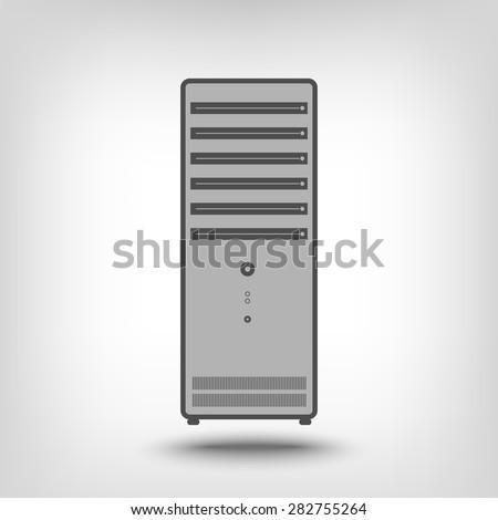 Computer case as an icon concept - stock vector