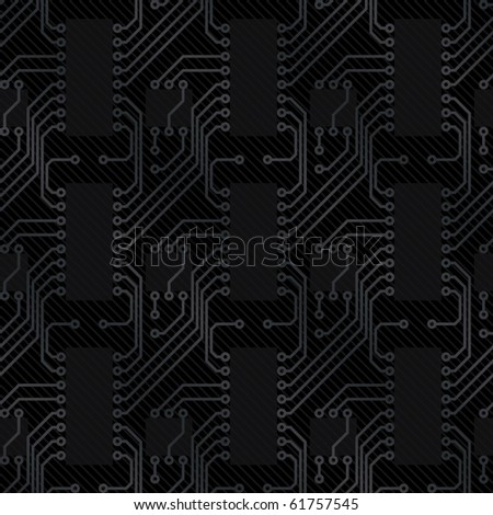 computer circuit board (seamless vector background for web page) - stock vector