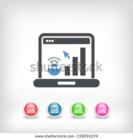 Computer connection icon - stock vector