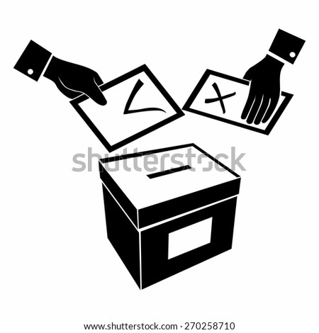 computer design, computer icon, black and white vector, illustration of voting or vote