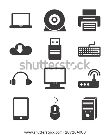 computer design over white background vector illustration - stock vector