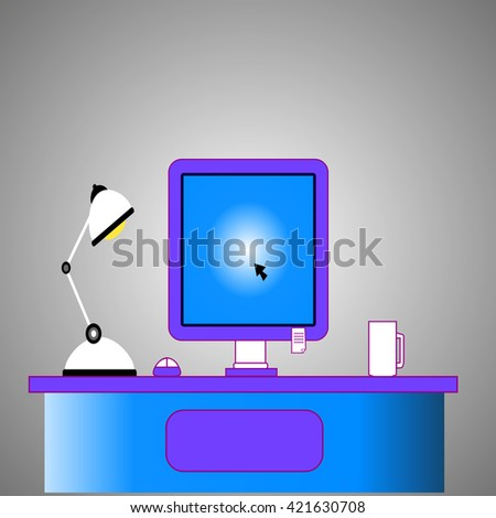 Computer desk, workplace