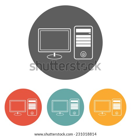 computer desktop icon - stock vector