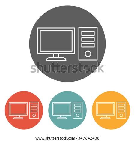 computer desktop icon - stock vector