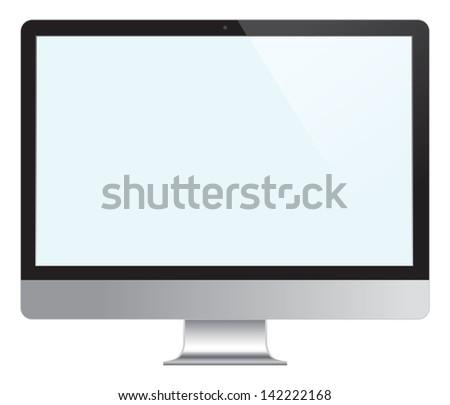 Computer Desktop Monitor, Display vector illustration. - stock vector