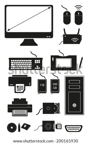 Computer Devices collection. Vector eps10 isolated