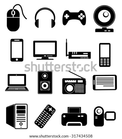 Computer devices icons set