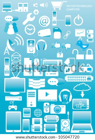 Computer & Devices icons  vector - stock vector