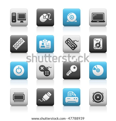 Computer & Devices Web Icons // Matte Series - stock vector