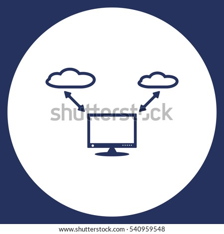 Computer display Icon Vector flat design style