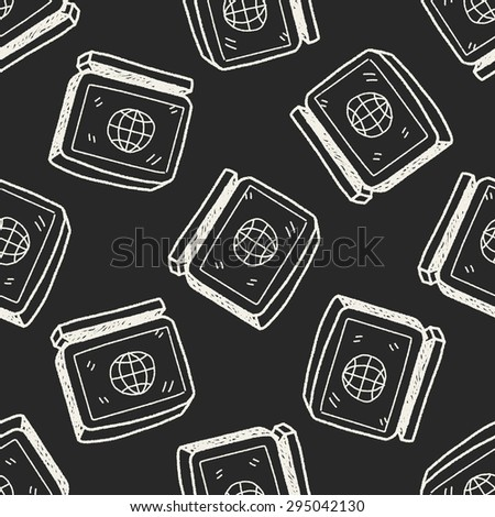 computer doodle seamless pattern background