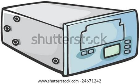 Computer Equipment - stock vector