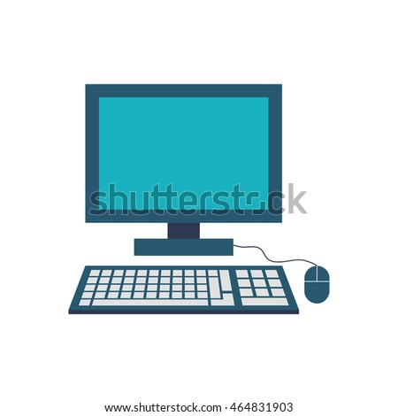 computer gadget technology icon. Isolated and flat illustration. Vector graphic