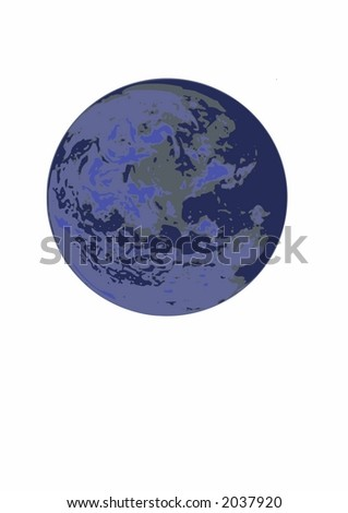 Computer generated earth vector graphics