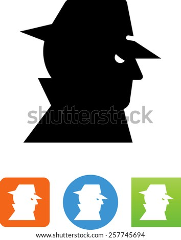 Computer hacker / thief symbol for download. Vector icons for video, mobile apps, Web sites and print projects.  - stock vector