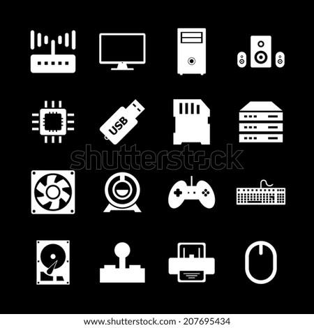 Computer hardware icon - stock vector
