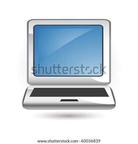 computer icon - stock vector