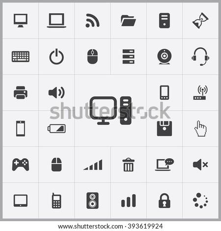 computer Icon, computer Icon Vector, computer Icon Art, computer Icon eps, computer Icon Image, computer Icon logo, computer Icon Sign, computer icon Flat, computer Icon design, computer icon app - stock vector