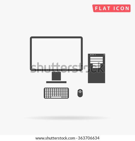 Computer Icon. Computer Icon Vector. Computer Icon Logo. Computer Icon Picture. Computer Icon Image. Computer Icon Graphic. Computer Icon UI. Computer Icon EPS. Computer Icon AI. Computer Icon Drawing - stock vector
