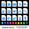 Computer Icon on Document Icon Collection Original Illustration - stock vector