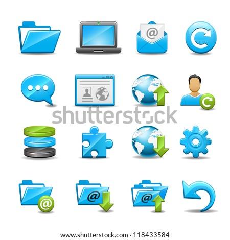 Computer Icon Set 1 - stock vector