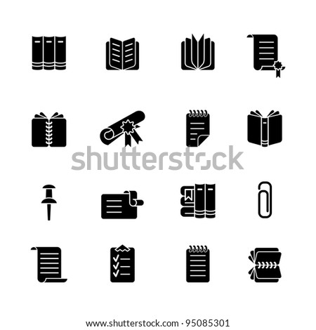 computer icon set - stock vector