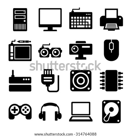 Computer Icons Set. Vector