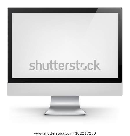 Computer Isolated on White  Background. Vector Illustration EPS 10. - stock vector