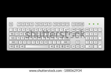 Computer keyboard - stock vector