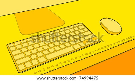 computer keyboard and a mouse