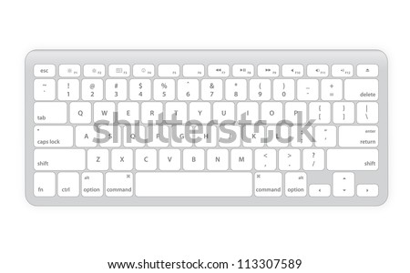 Computer keyboard in white color