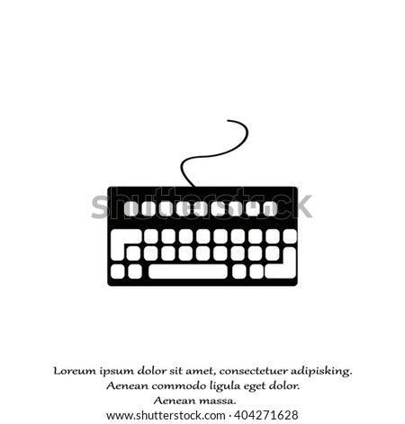 computer keyboard. Input device - stock vector