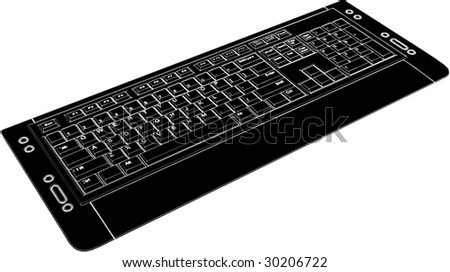 Computer Keyboard Vector 02 - stock vector