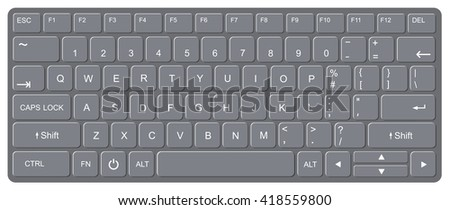 Computer keyboard, Vector illustration