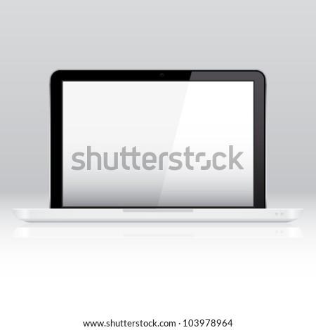 Computer laptop - stock vector
